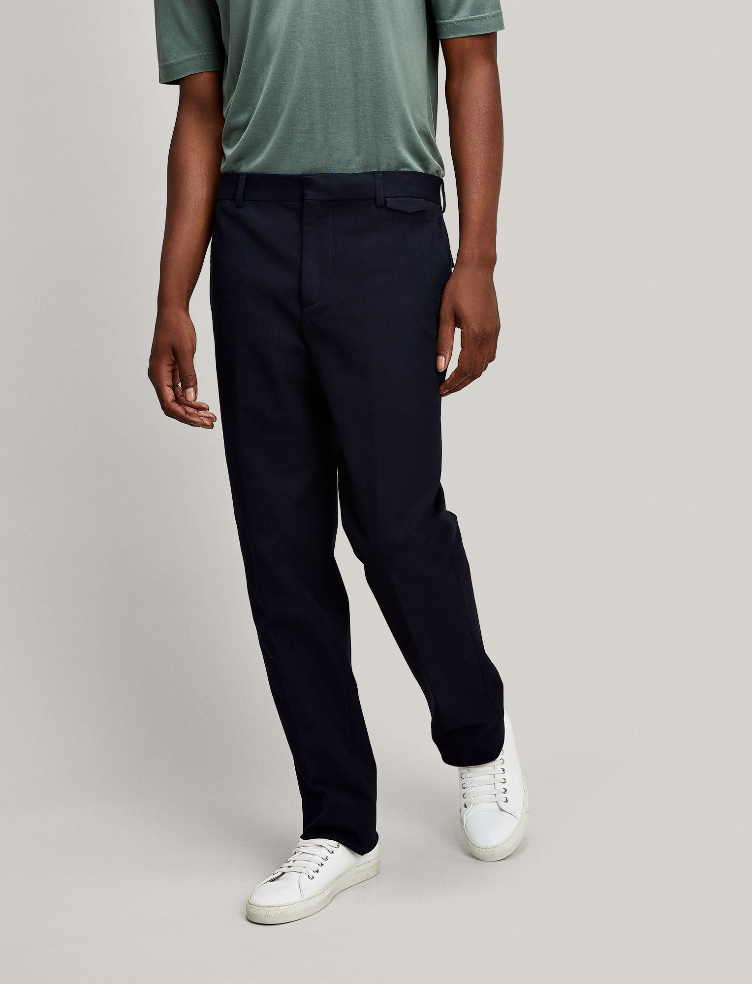 Joseph, Emmanuel Gabardine Stretch Trousers, in NAVY