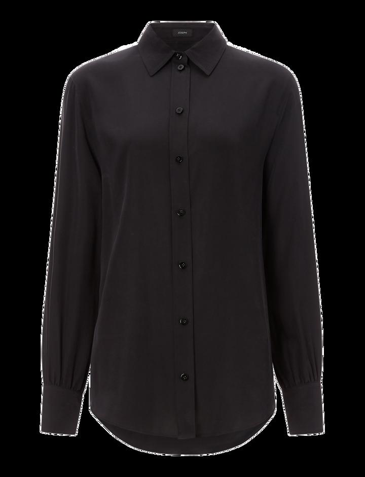 Joseph, Klein Silk Toile Blouse, in BLACK