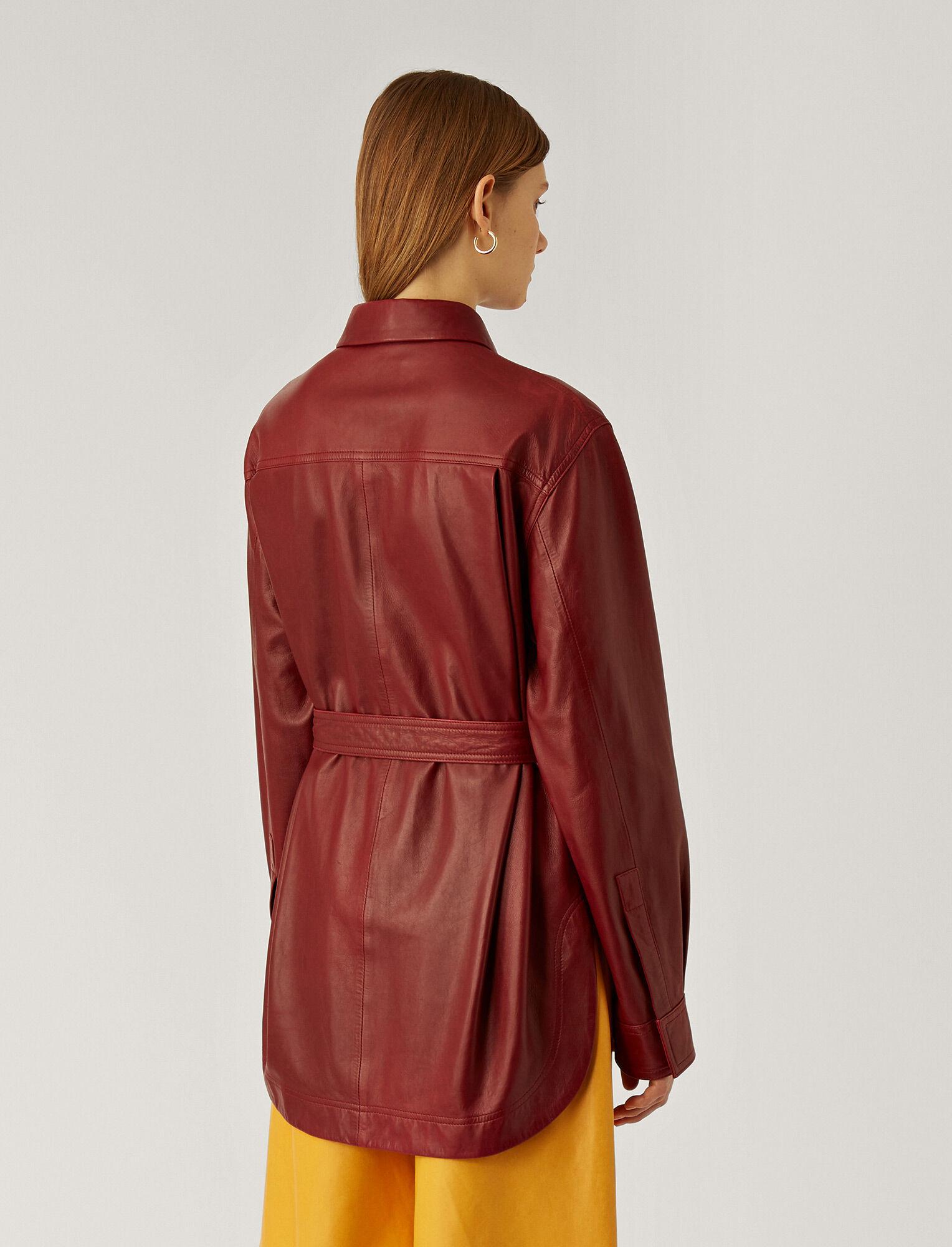 Joseph, Jent Leather Jacket, in AMARONE