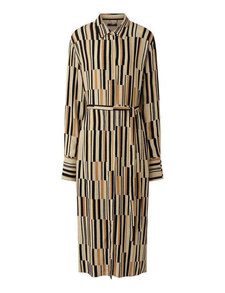 Joseph, Assemblage Print Dold Dress, in SEEDPEARL COMBO