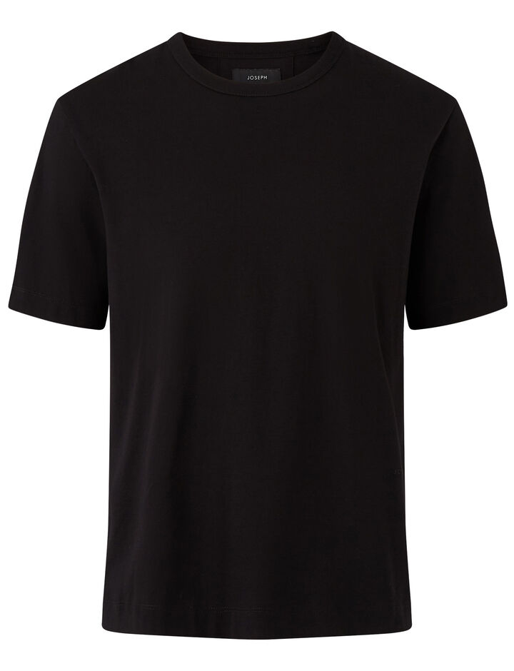 Joseph, Crew Nk Ss-Perfect Tee, in BLACK