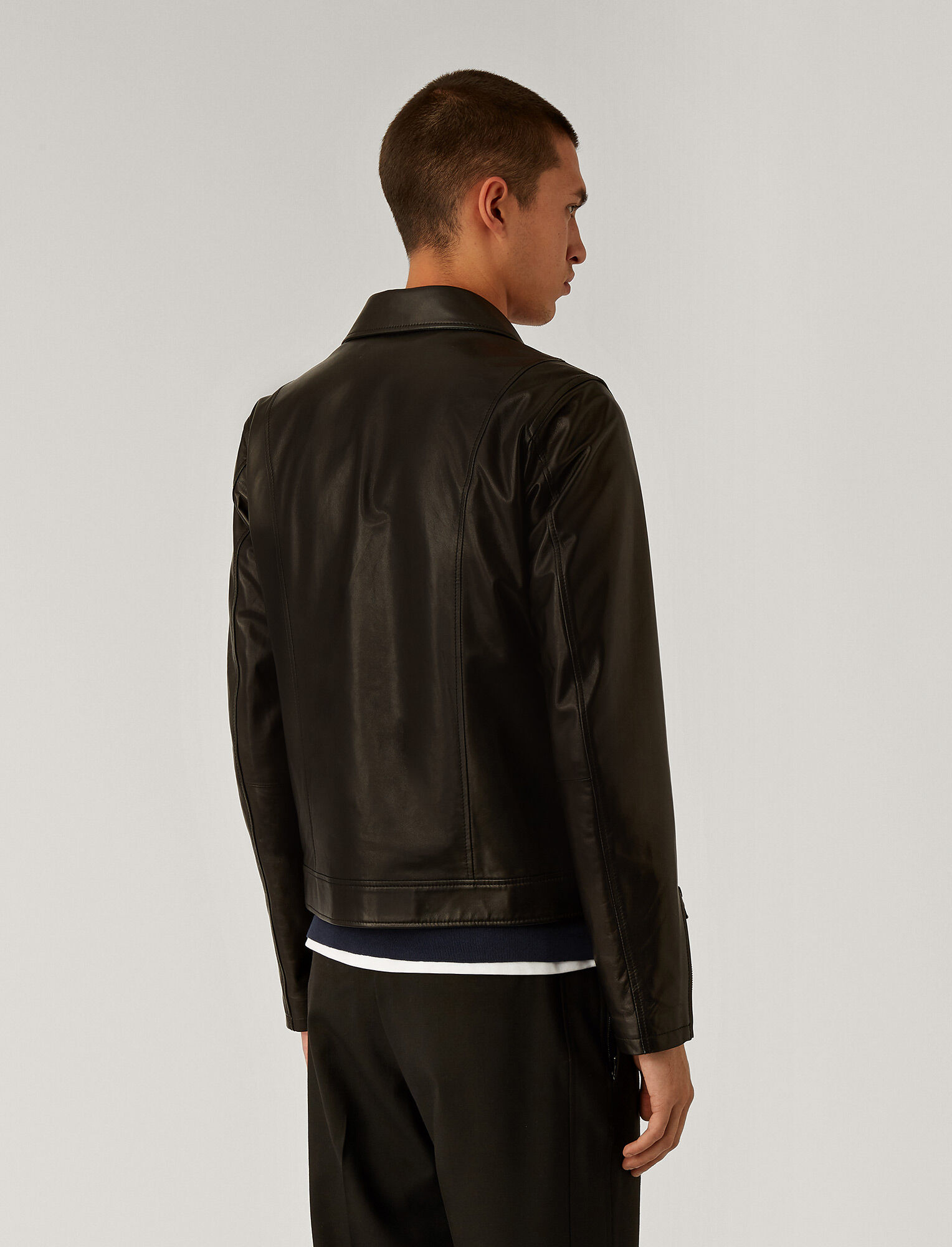 Joseph, Lamb Leather Jacket, in Black