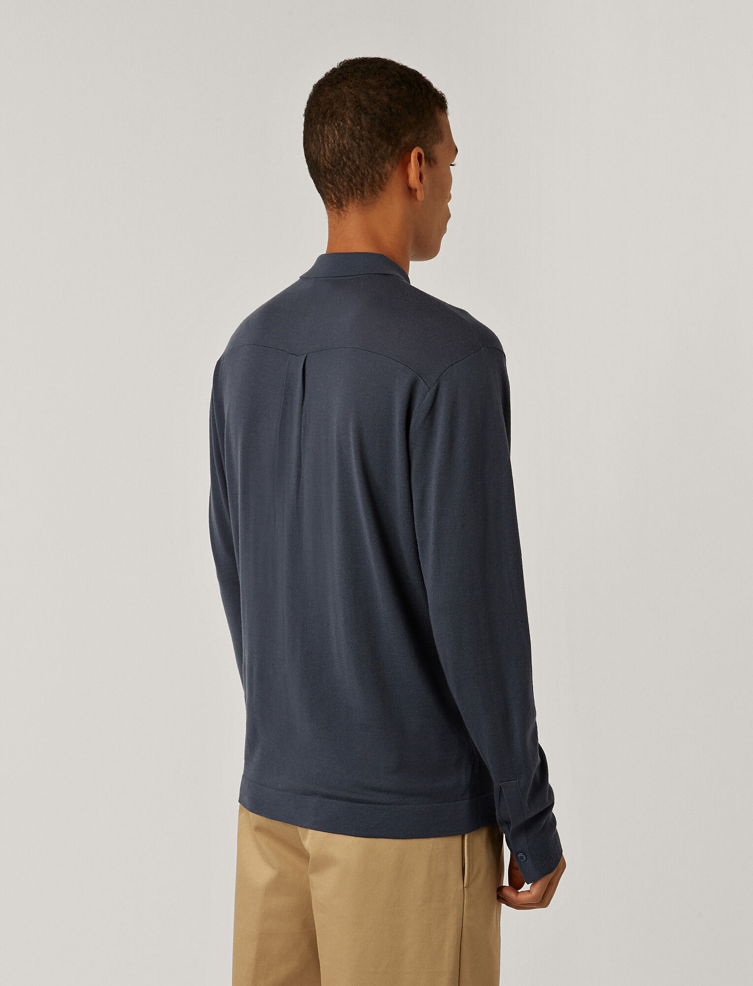 Joseph, Light Merinos Shirt, in BLUE STEEL