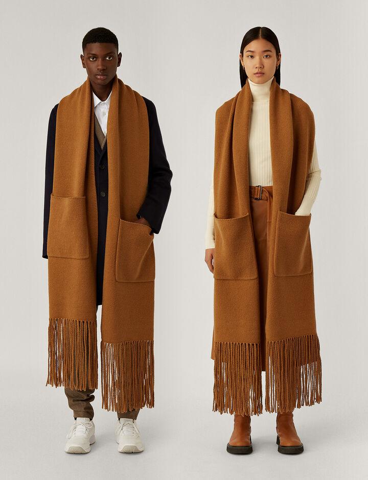 Joseph, Scarf Knitwear, in Camel