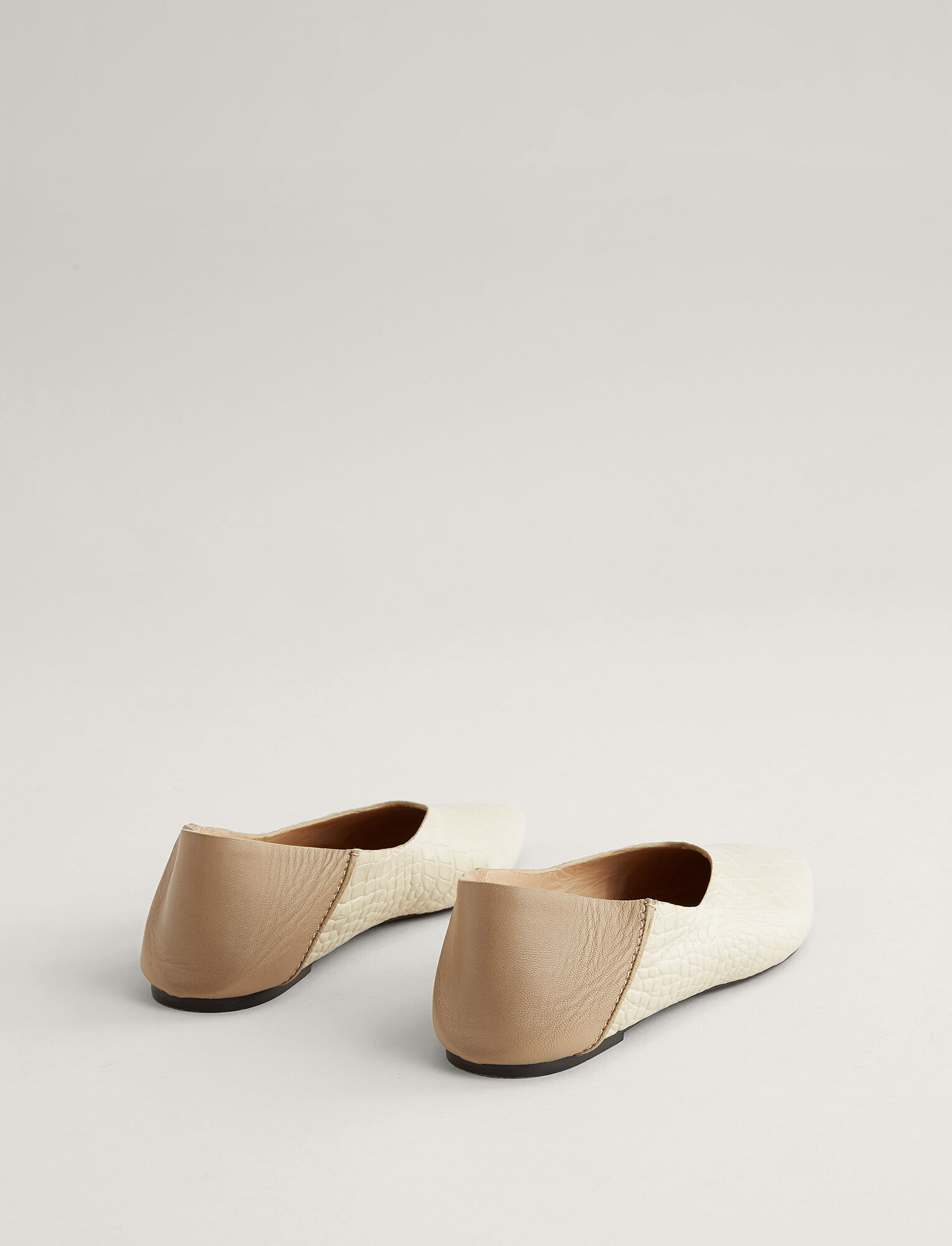 Joseph, Anoud Leather Ballerina, in BEIGE