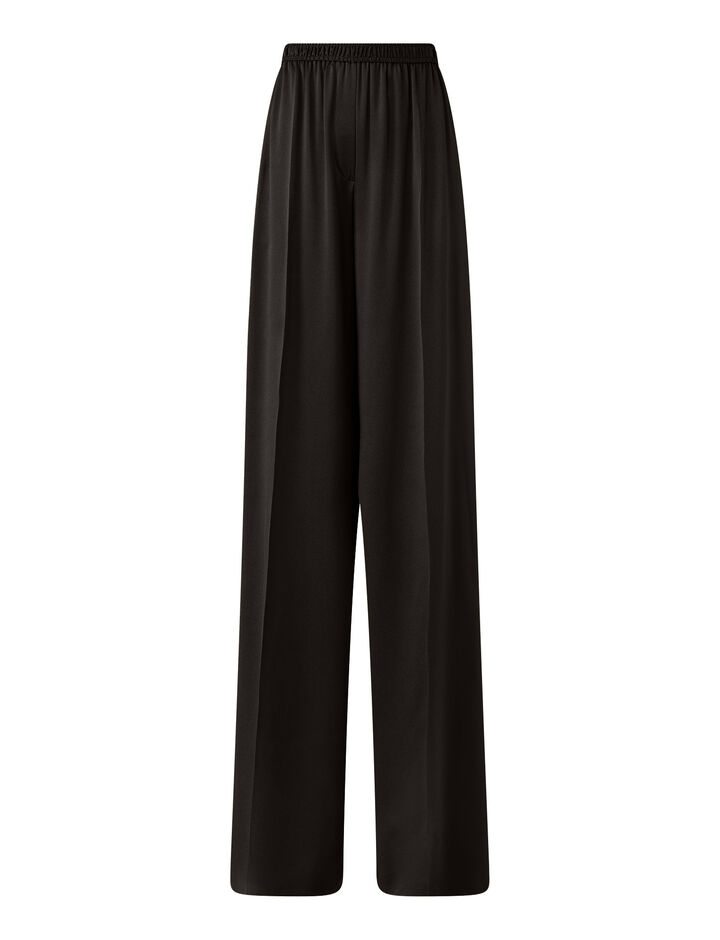Joseph, Taffy Silk Satin Trousers, in Black