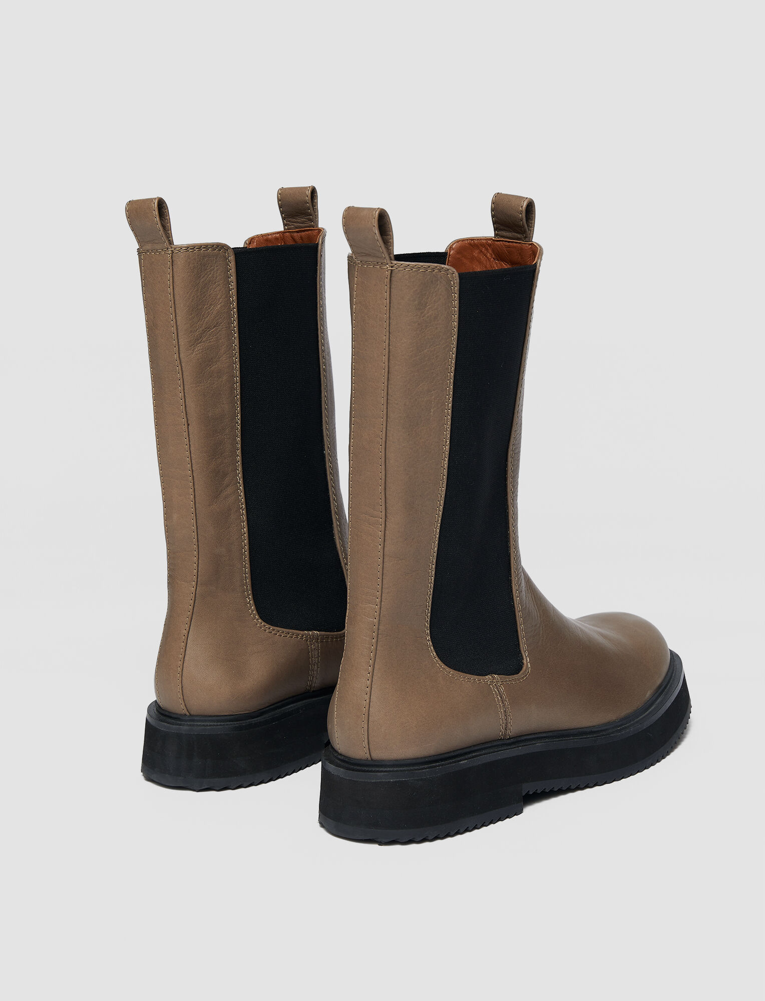 Joseph, Leather British Chelsea Boots, in TAUPE