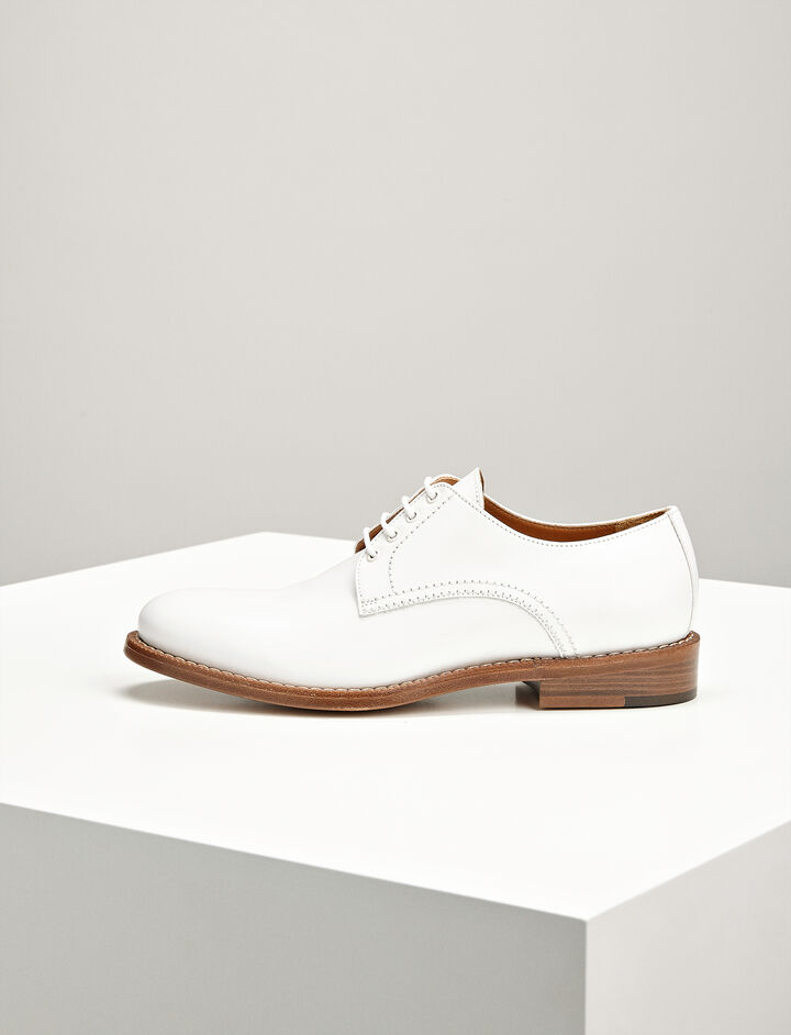 Joseph, Leather David Derby Shoes, in WHITE