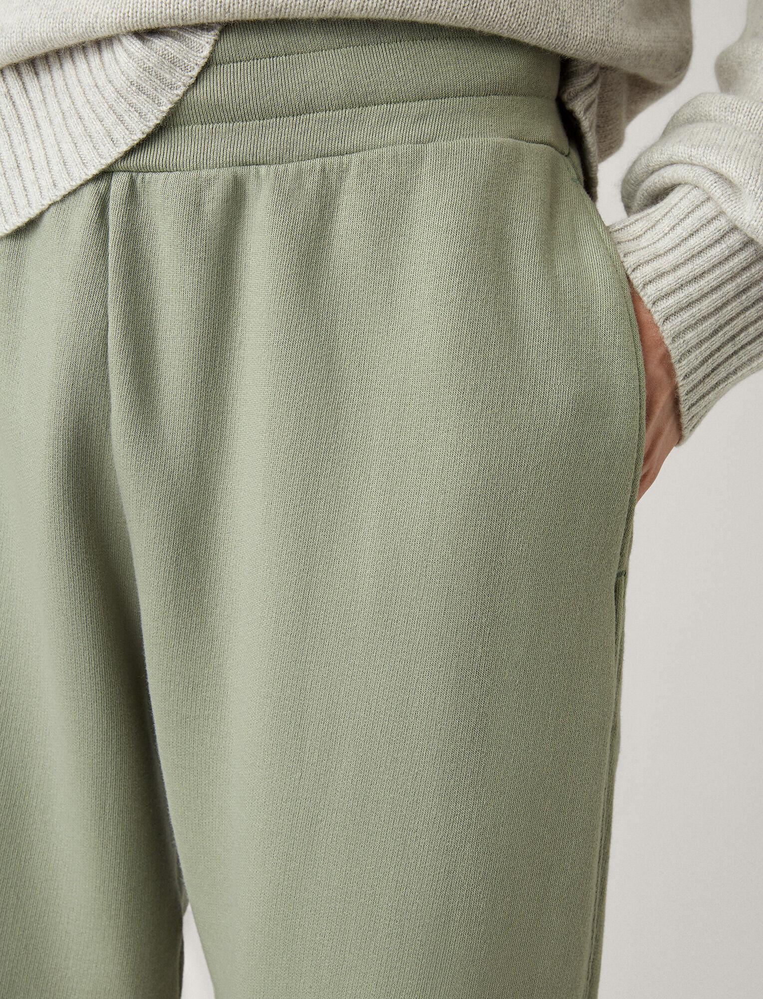 Joseph, Jogger Garment Dye Molleton Trousers, in KHAKI
