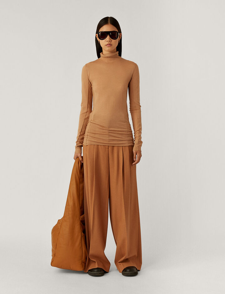 Joseph, High Nk Knitwear, in Camel