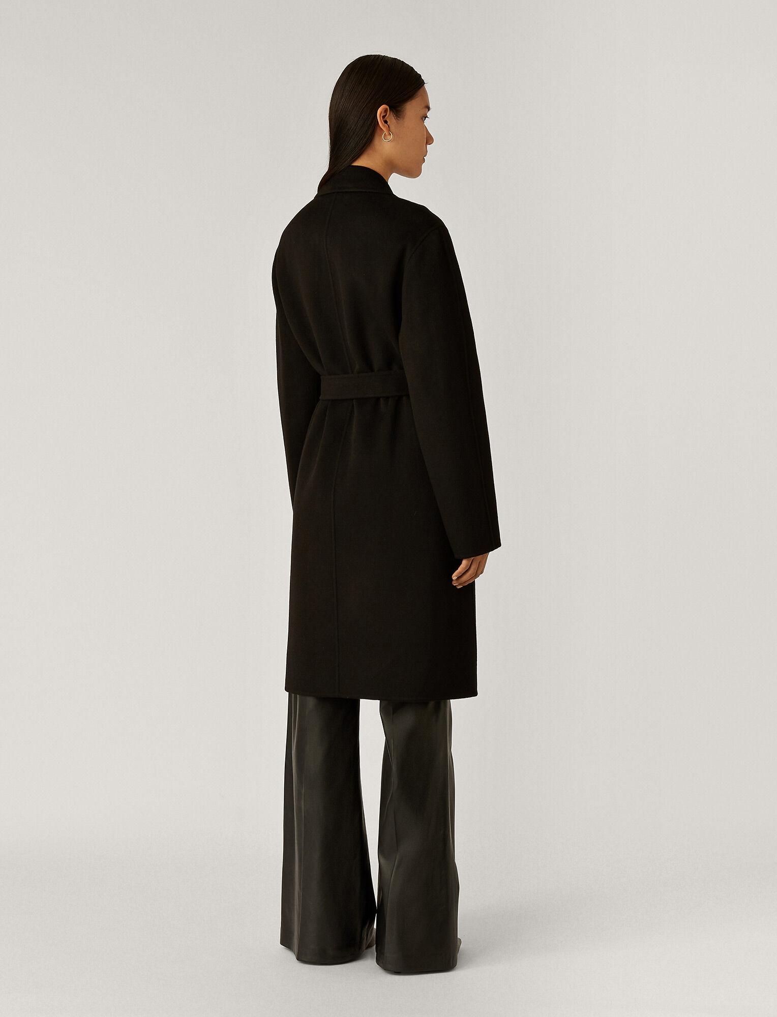 Joseph, Cenda Long Cashmere Coat, in Black