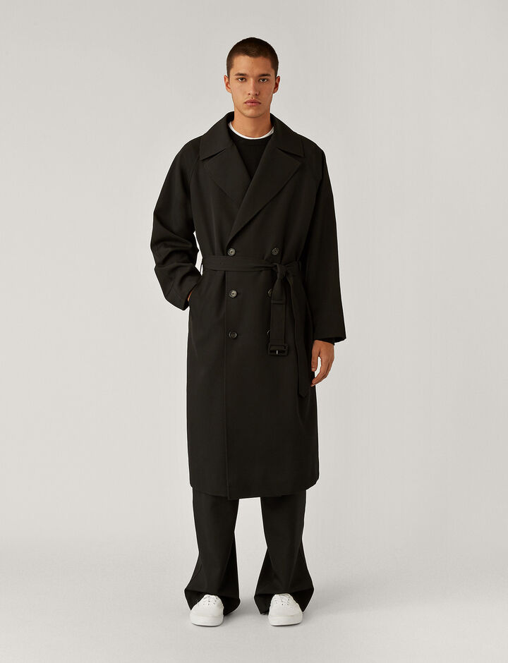 Joseph, Impregnate Wool Coat Coats, in Black