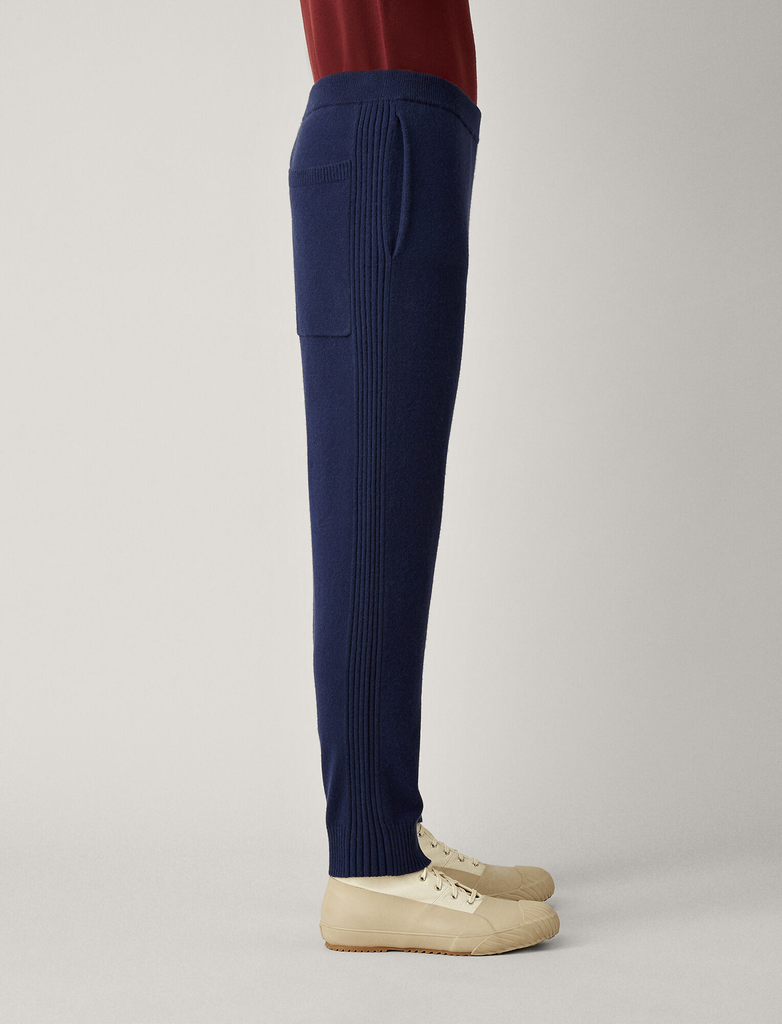 Joseph, Mongolian Cashmere Knit Jog, in ROYAL BLUE