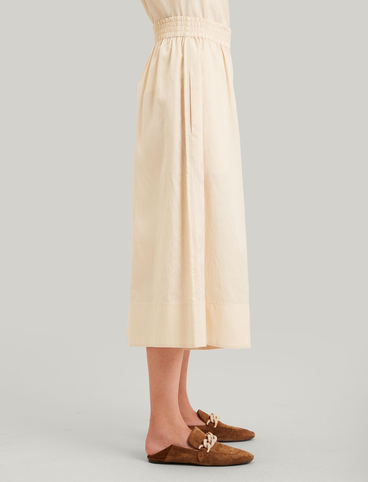 Joseph, Barlon Cotton Silk Shirting Trousers, in BUTTER