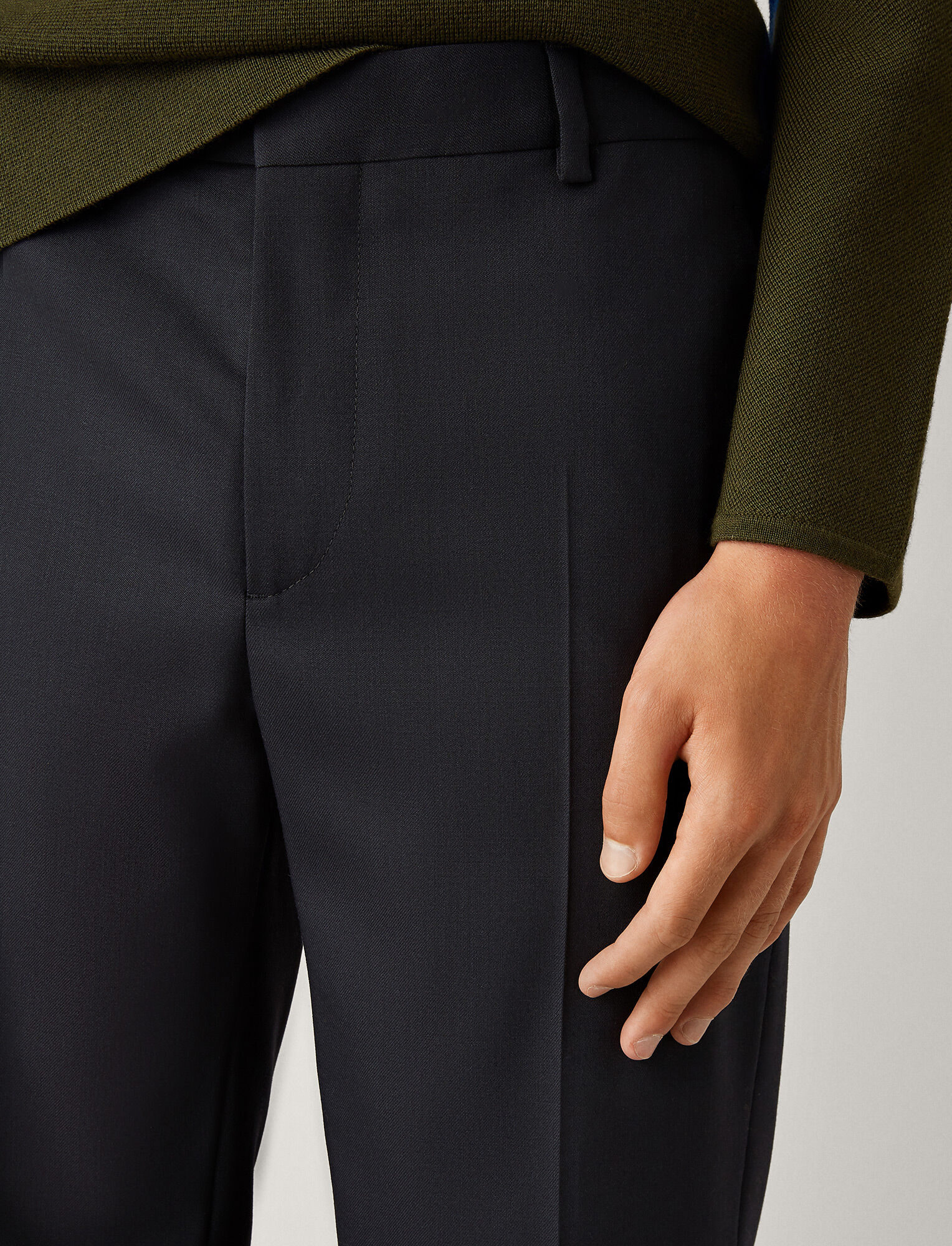 Joseph, Jack Fine Comfort Wool Trousers, in NAVY