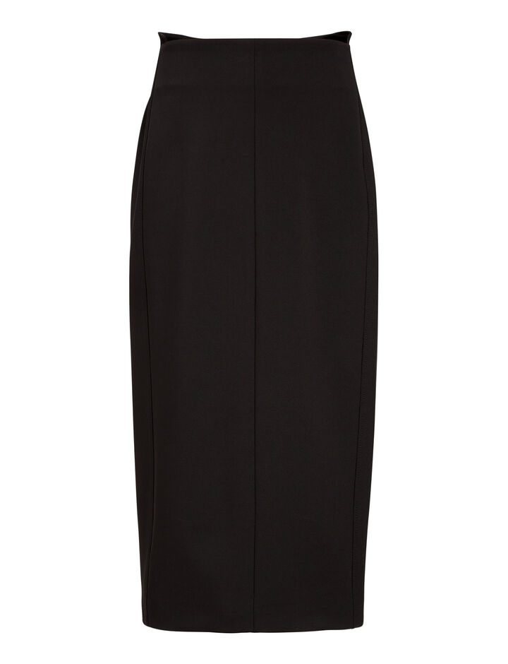 Joseph, Rich Super Stretch Skirt, in BLACK