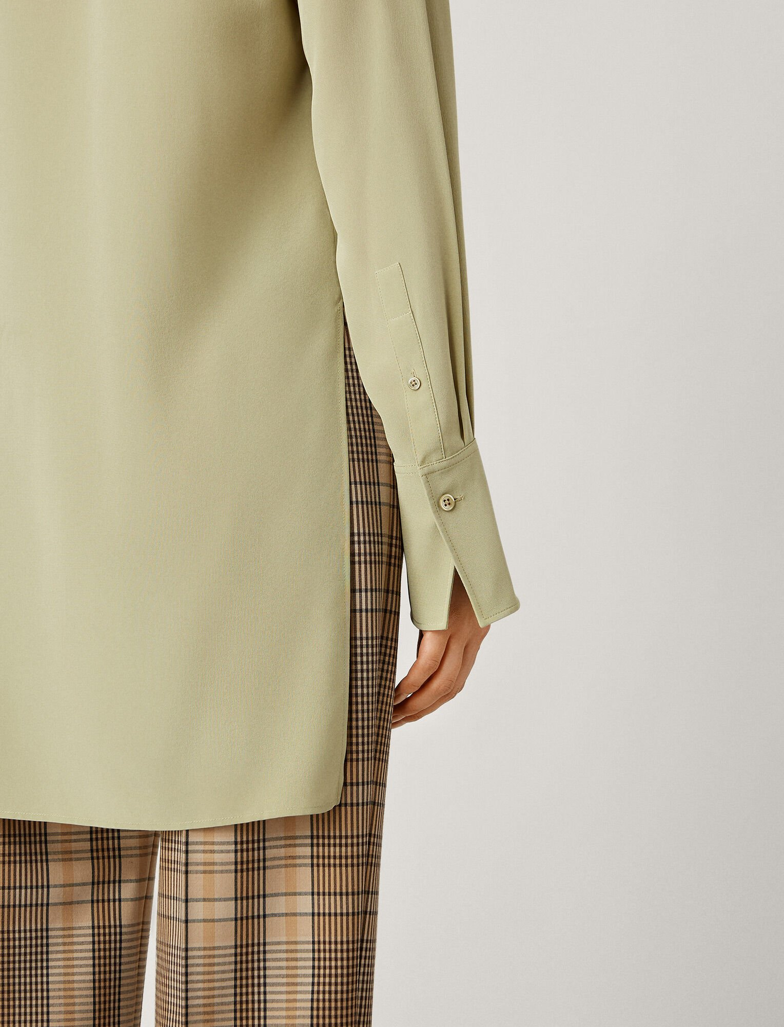 Joseph, Oldfield Crepe De Chine Blouse, in SAGE