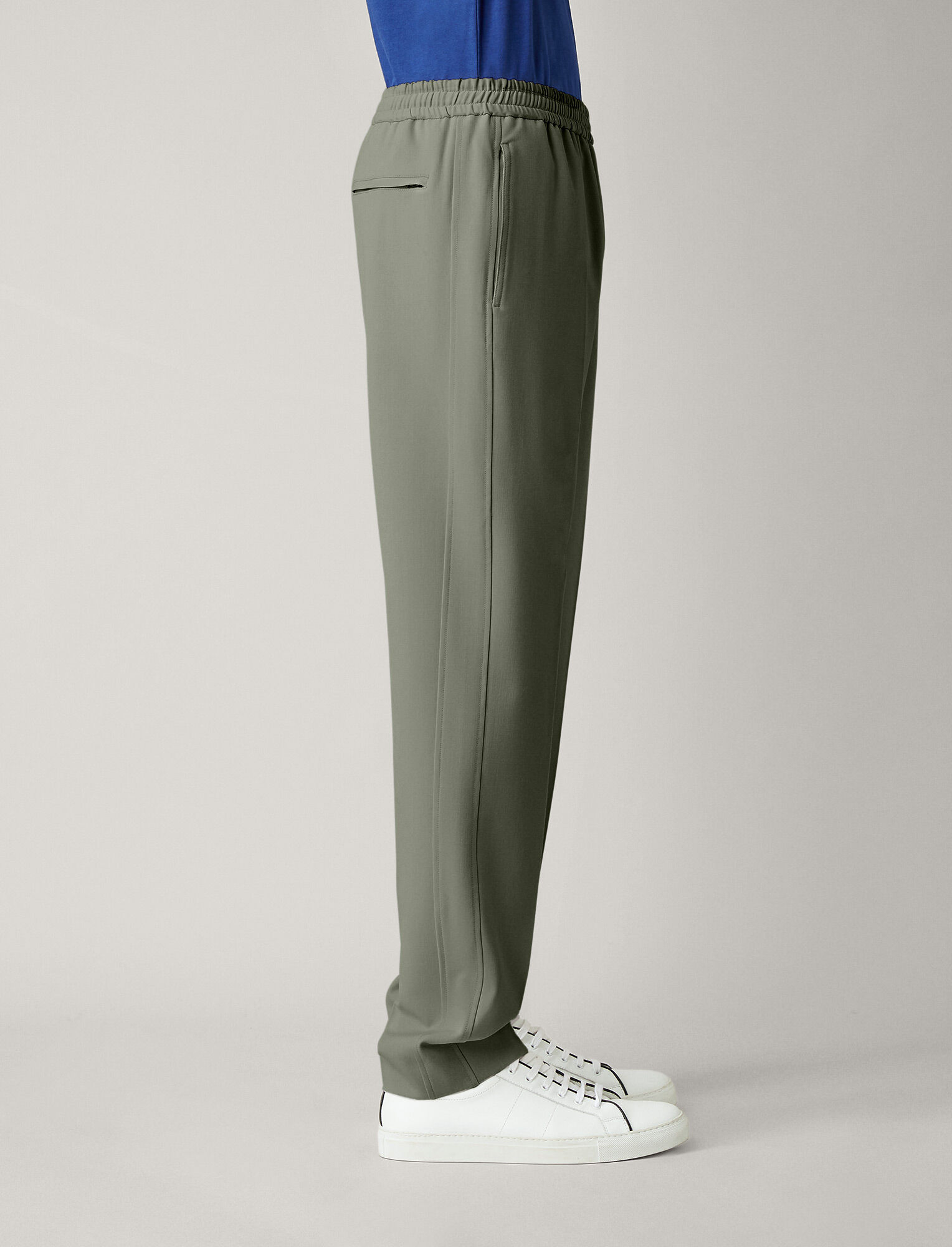 Joseph, Ettrick Techno Wool Stretch Trousers, in SAGE