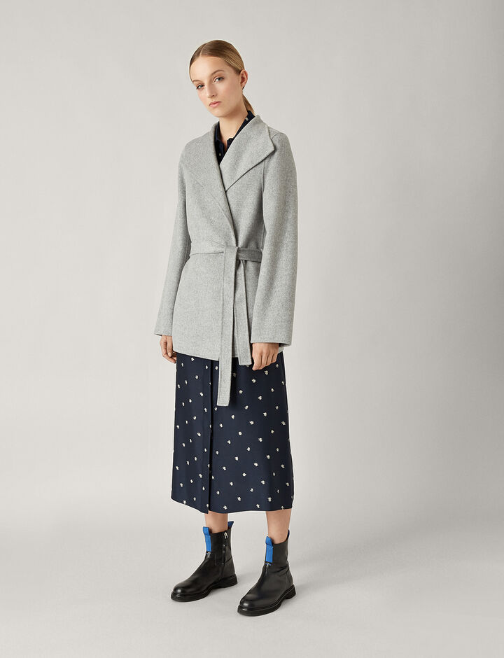 Joseph, Lima Short Double Face Cashmere Coat, in GREY