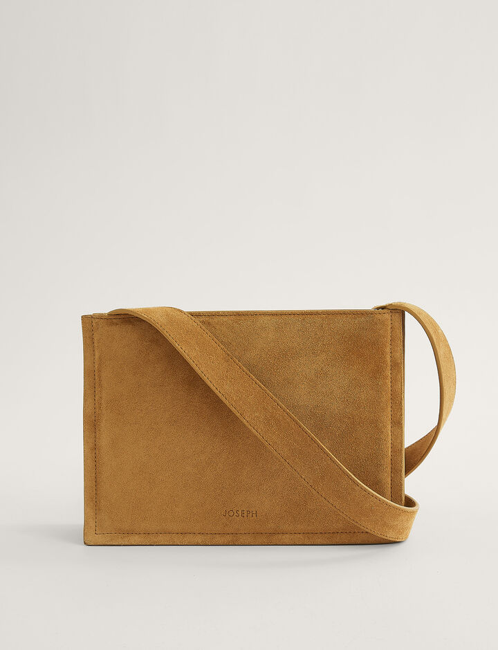 Joseph, TRIPLE BAG-SUEDE, in OAK