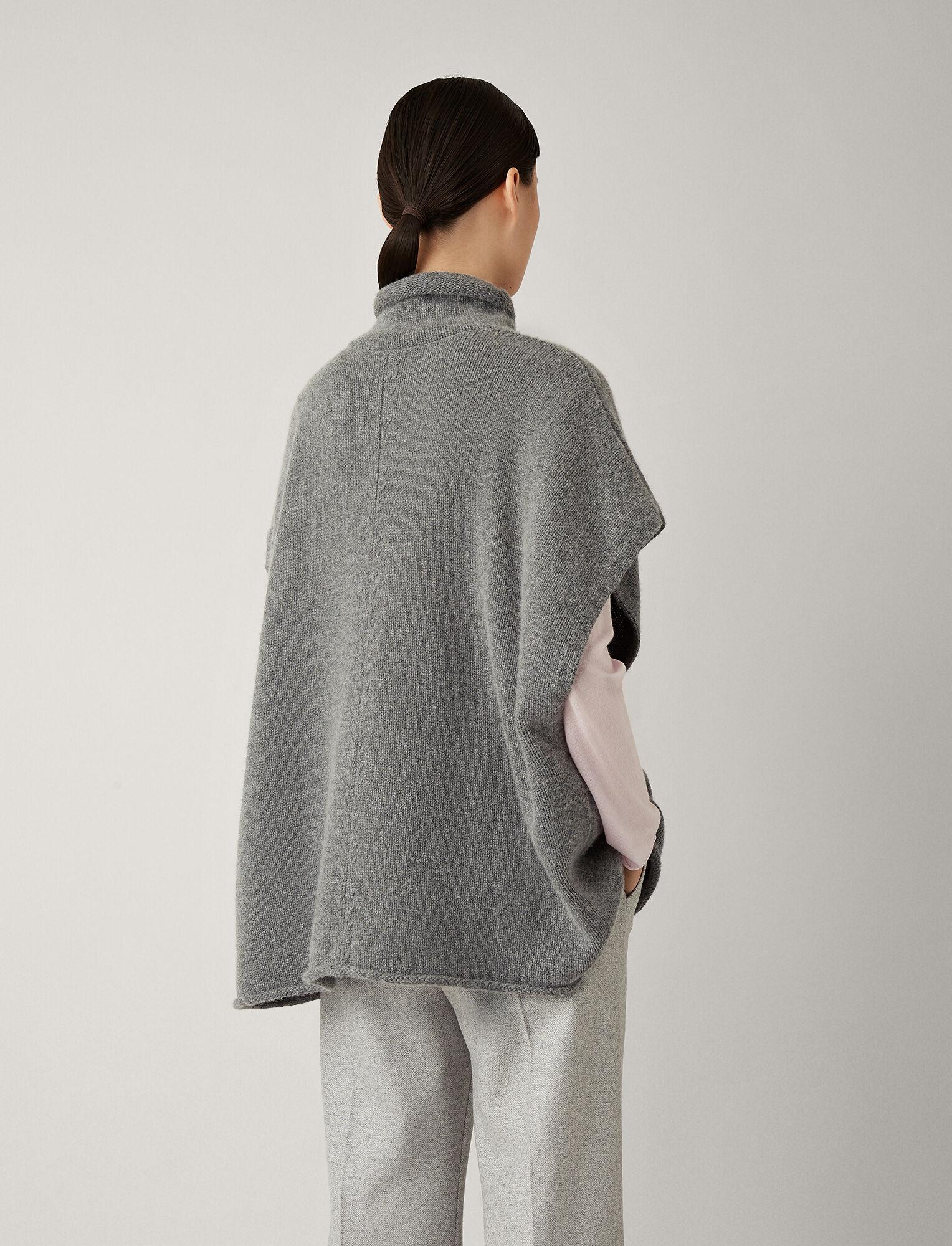 Joseph, Poncho Wool Cashmere Knit, in DARK GREY