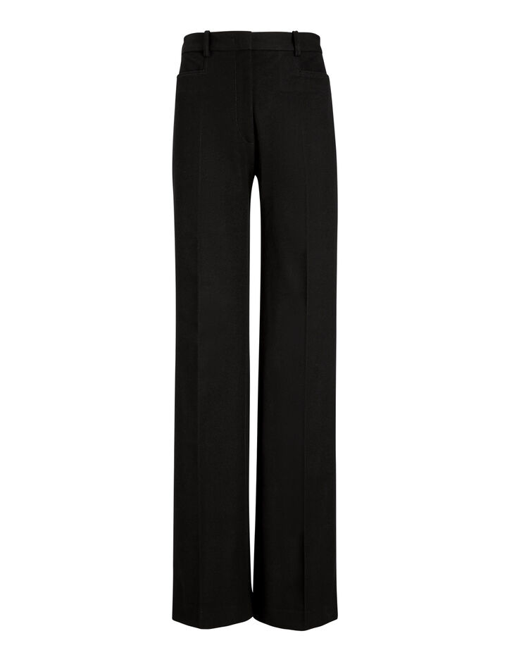 Joseph, Road Gabardine Stretch Trousers, in BLACK