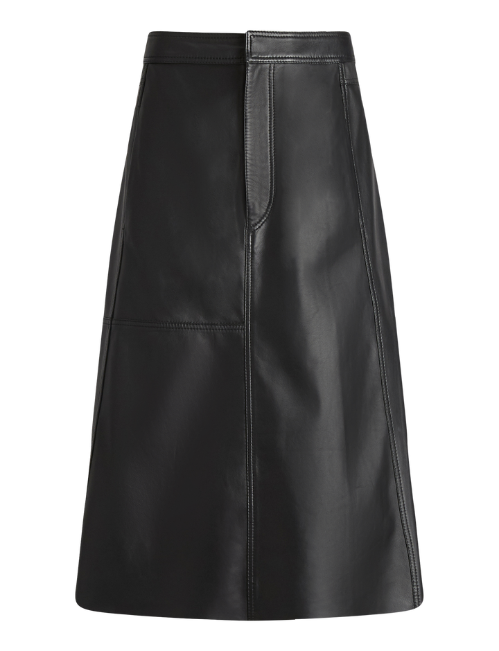 Joseph, Bell Leather Trousers, in BLACK