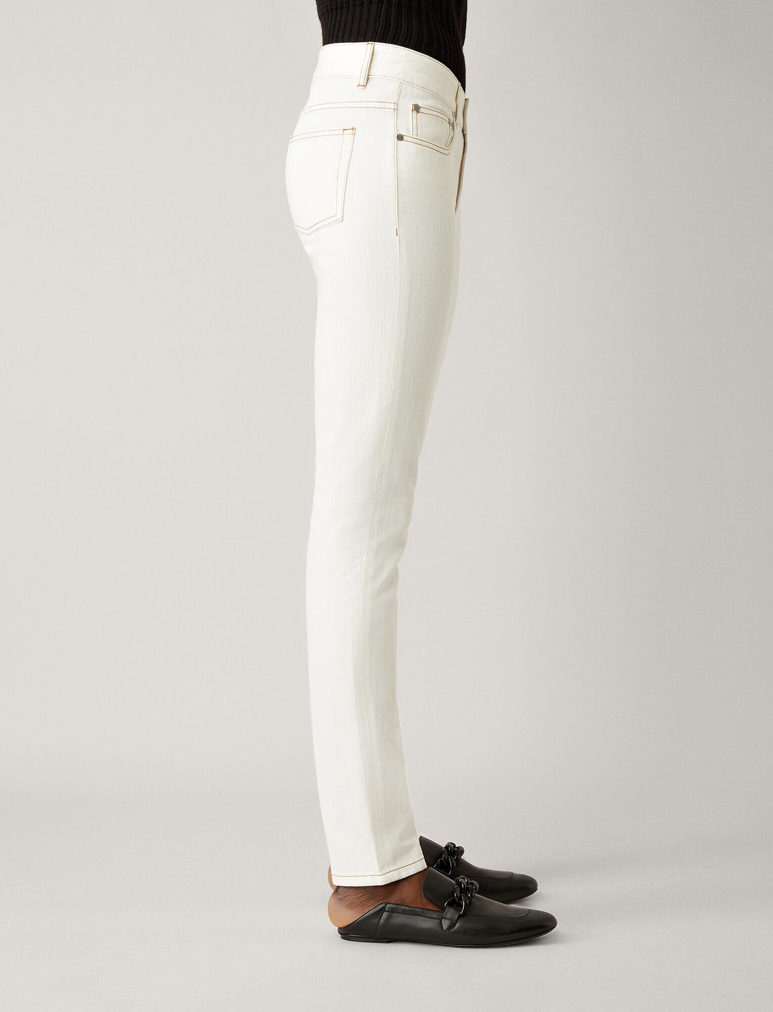 Joseph, Cloud White Denim Trousers, in WHITE