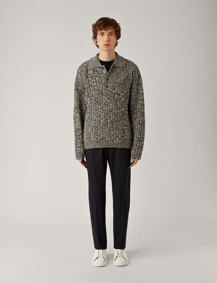 Joseph, Ettrick-Fine Comfort Wool, in NAVY