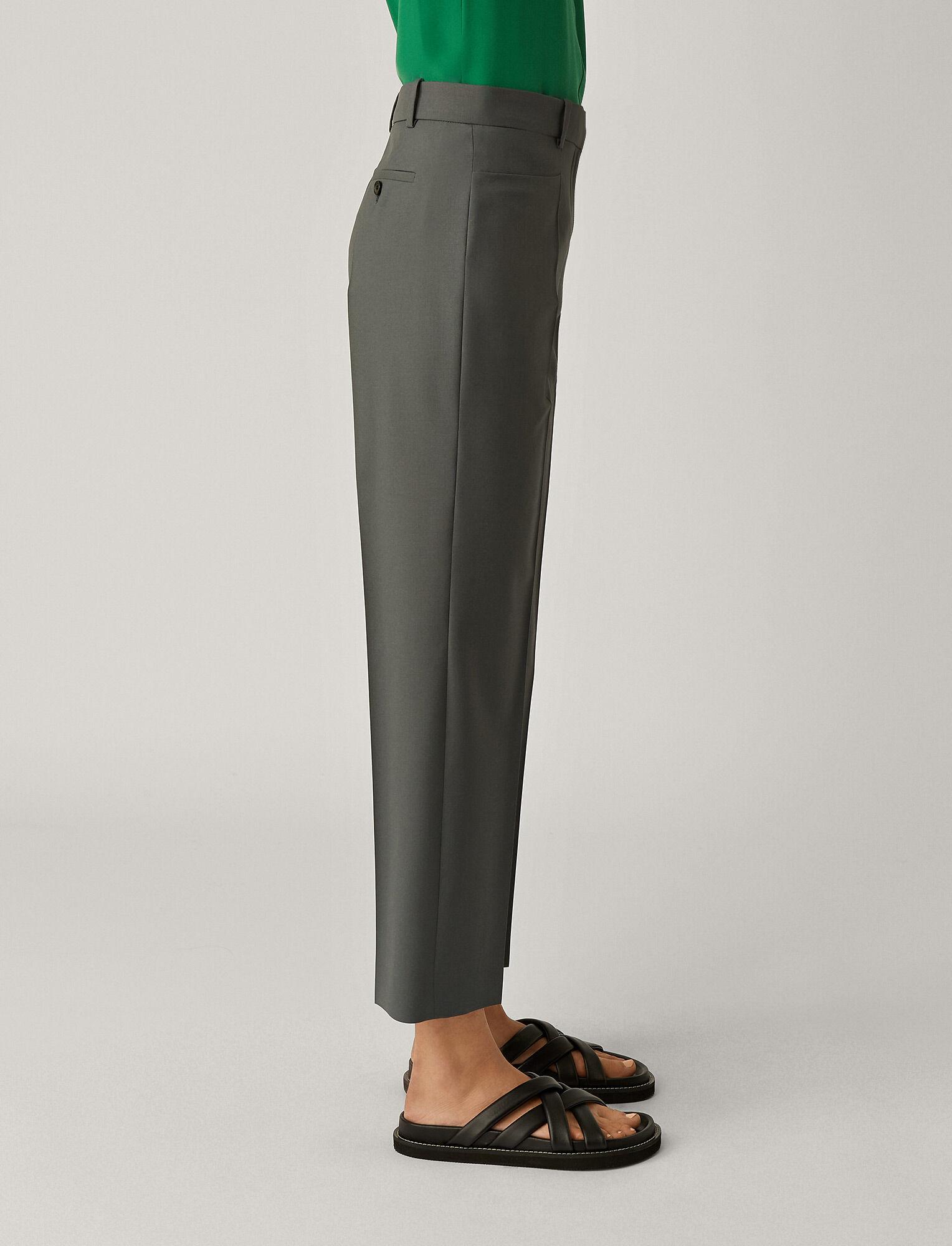 Joseph, Sloe Toile de Laine Trousers, in SLATE GREY