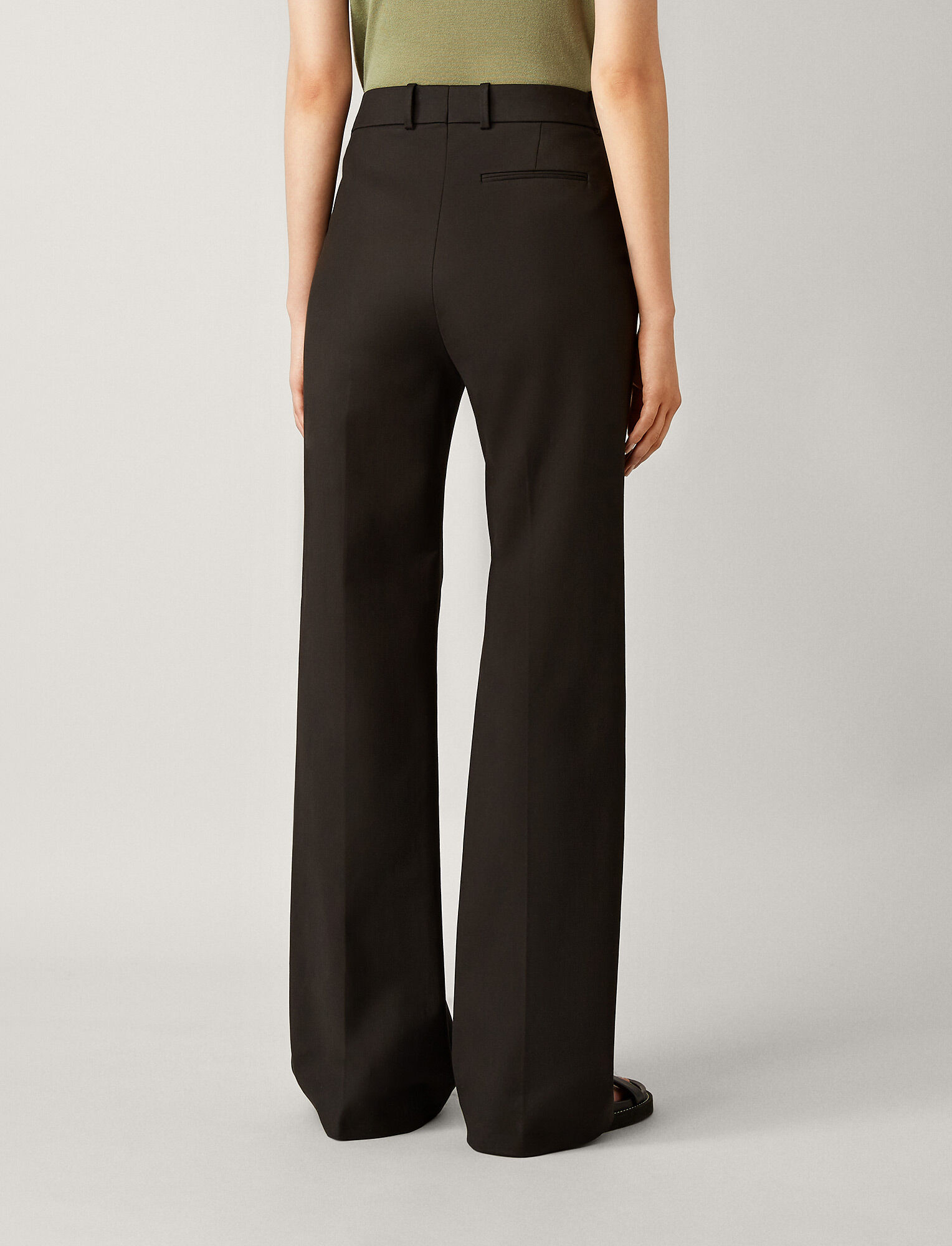 Joseph, Richard Double Cotton Stretch Trousers, in BLACK