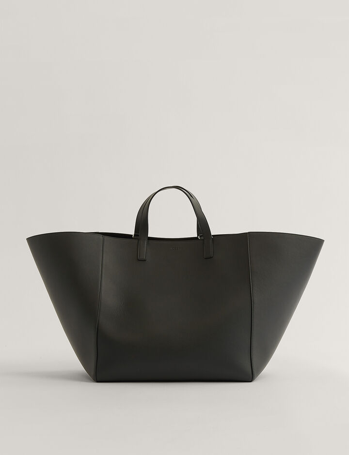 Joseph, Tote-Leather, in BLACK