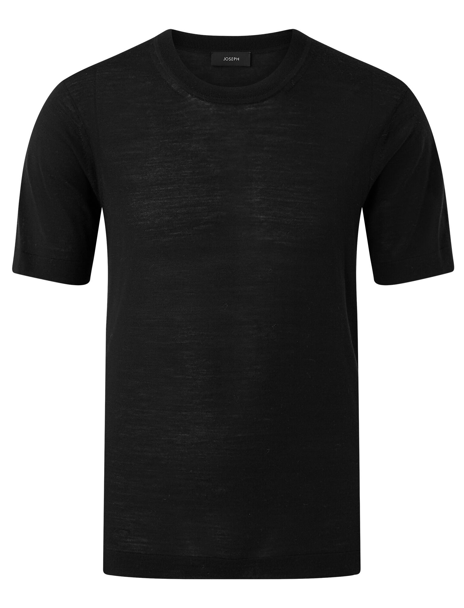 Joseph, Light Merinos Knit Tee, in BLACK