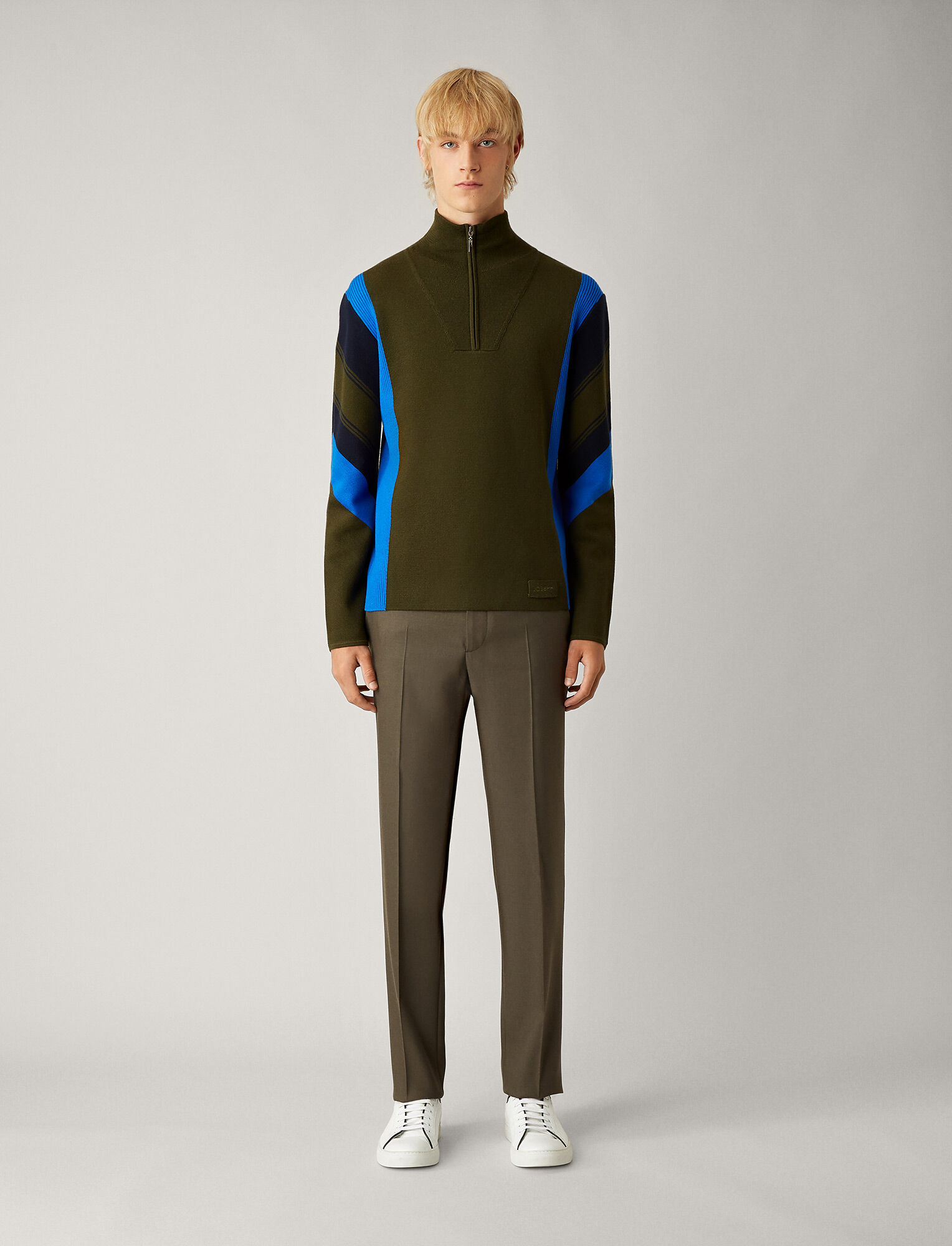 Joseph, Jack Flannel Stretch Trousers, in MILITARY