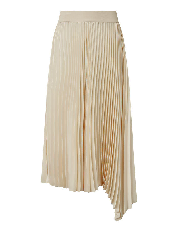 Joseph, Sabin Knit Weave Plissé Skirts, in Ivory