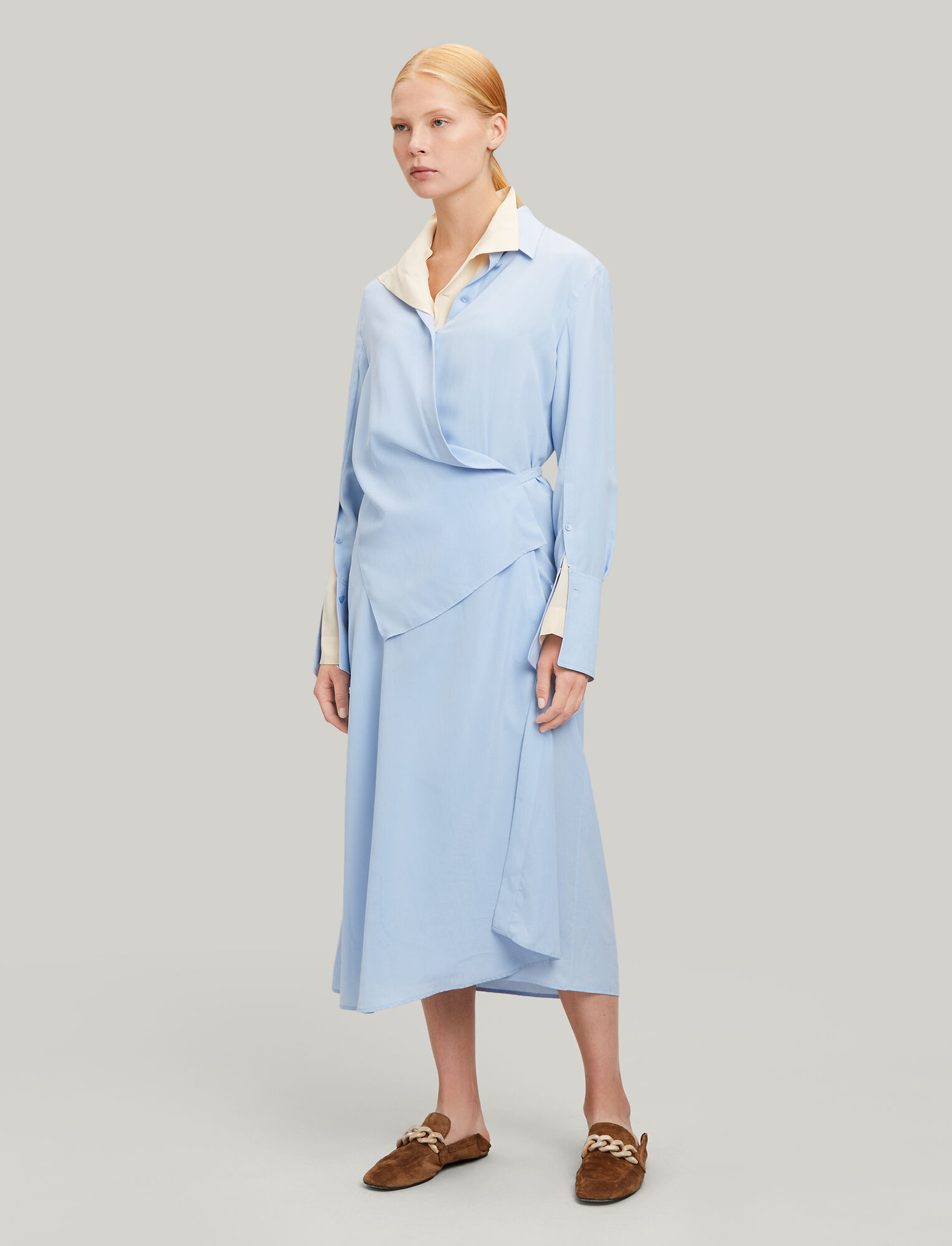 Joseph, Claudi Silk Toile Dress, in PERIWINKLE