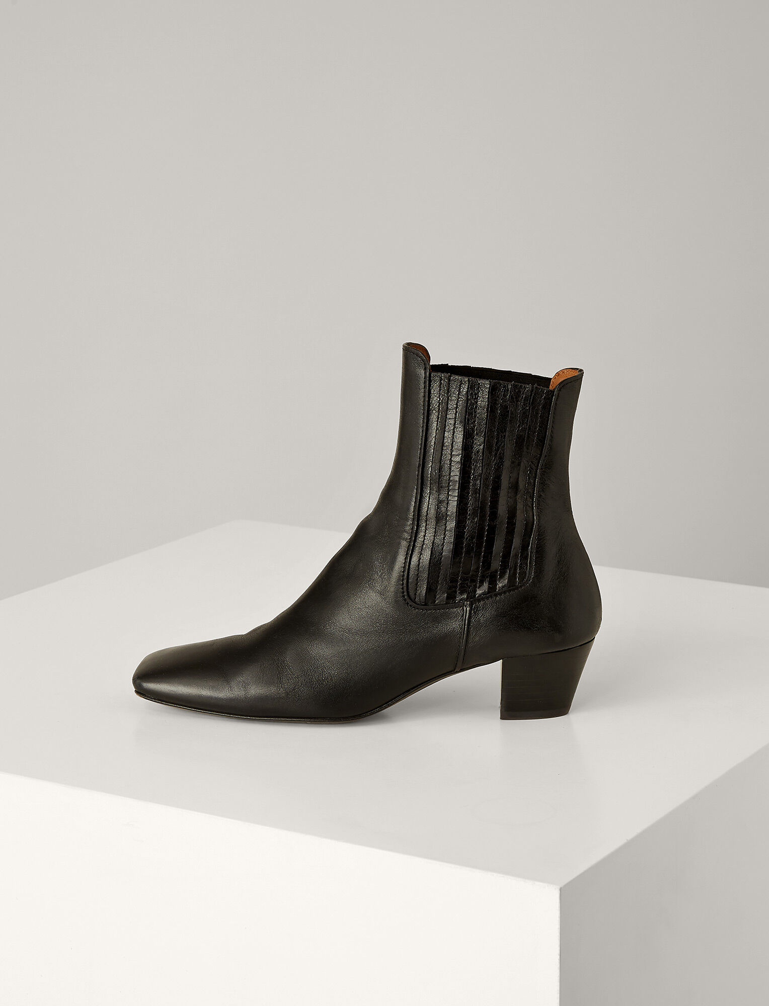 Joseph, Bottines Bettina en cuir, in BLACK