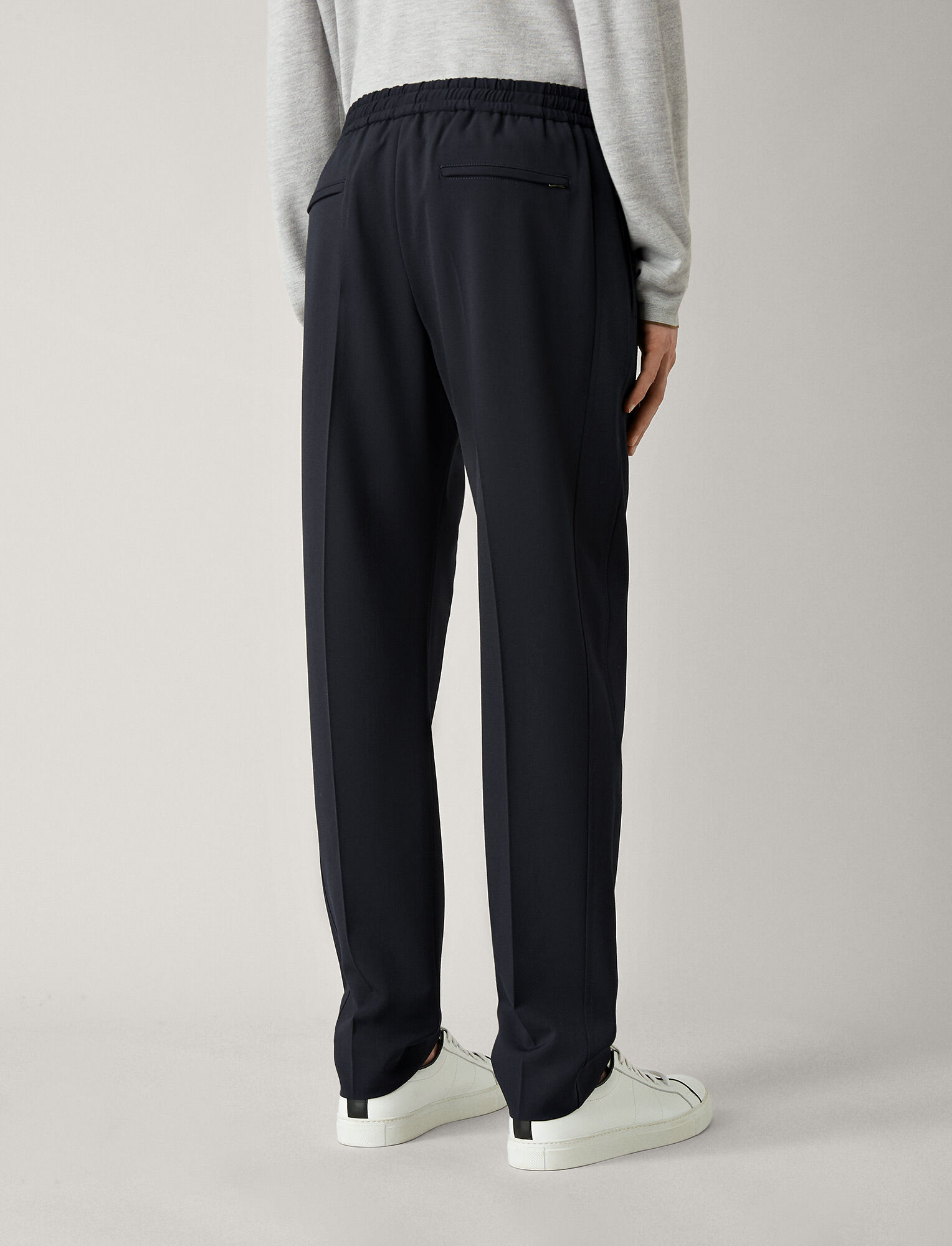 Joseph, Pantalon Ettrick en laine techno stretch, in NAVY
