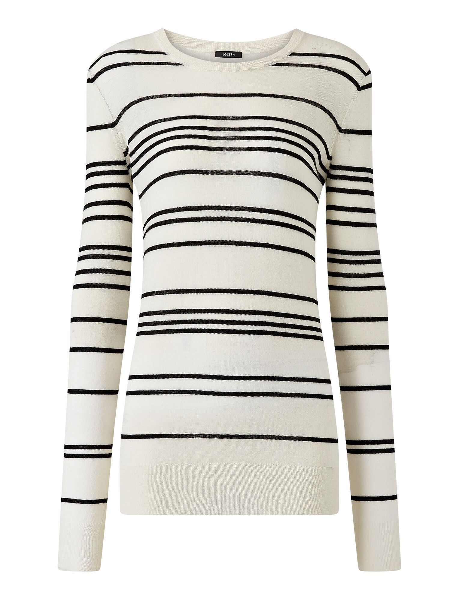 Joseph, Cashair Stripe Jumper, in IVORY COMBO