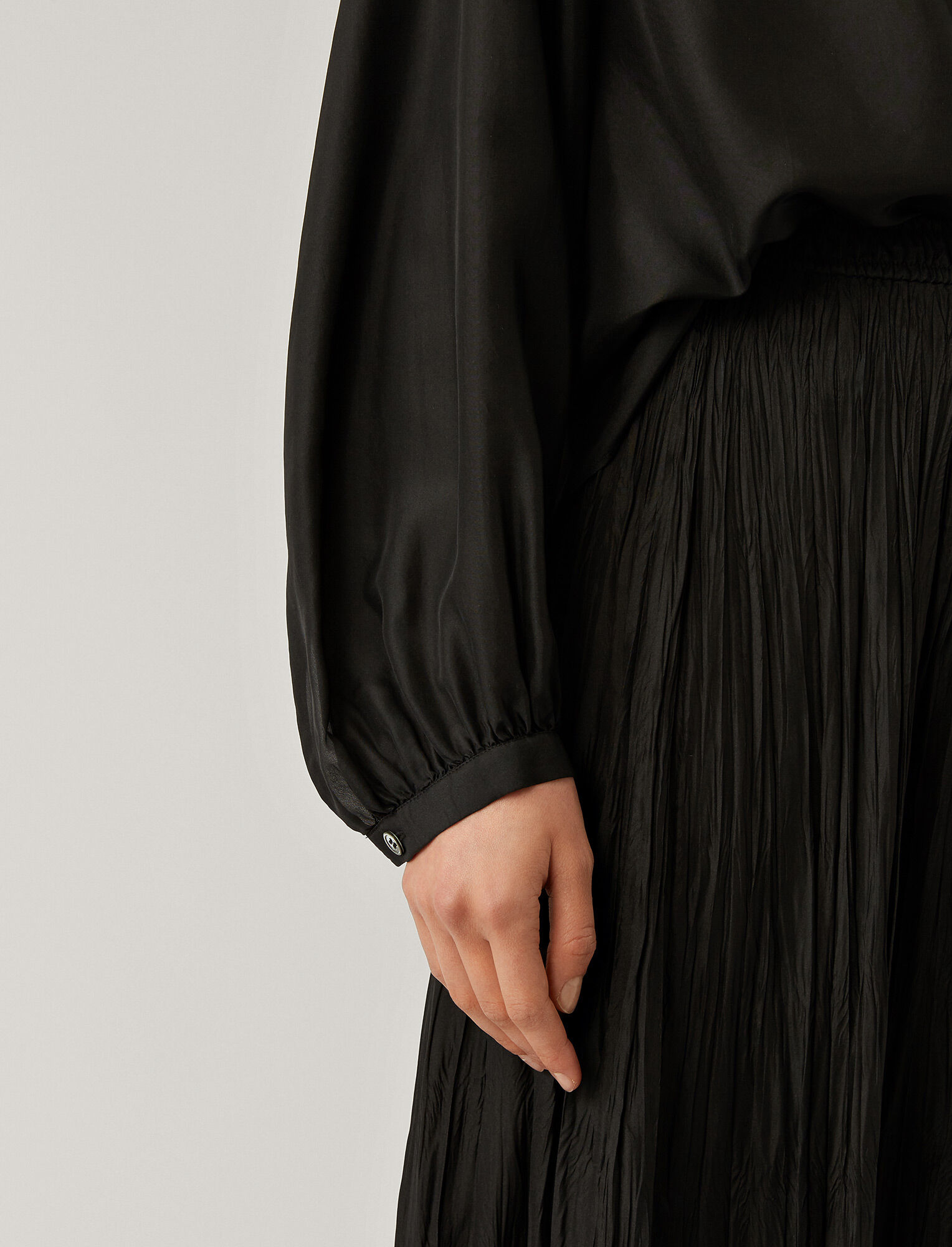 Joseph, Bowell Silk Habotai Blouse, in BLACK