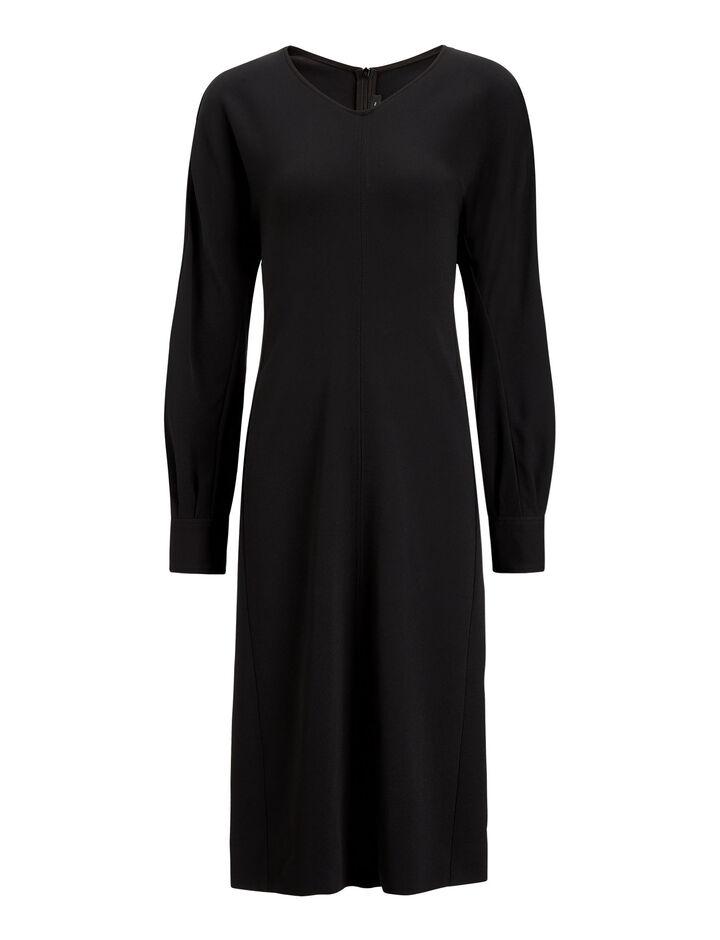 Joseph, Haize Dress Viscose Cady Dress, in BLACK