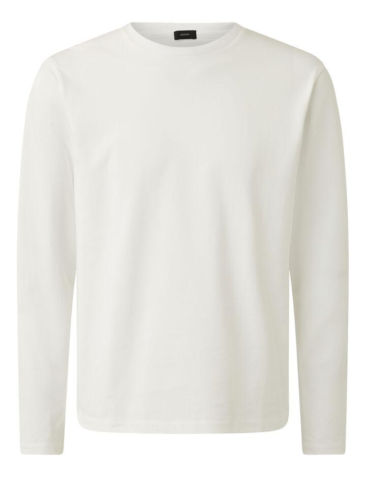 Joseph, Soft Organic Jersey Top, in WHITE