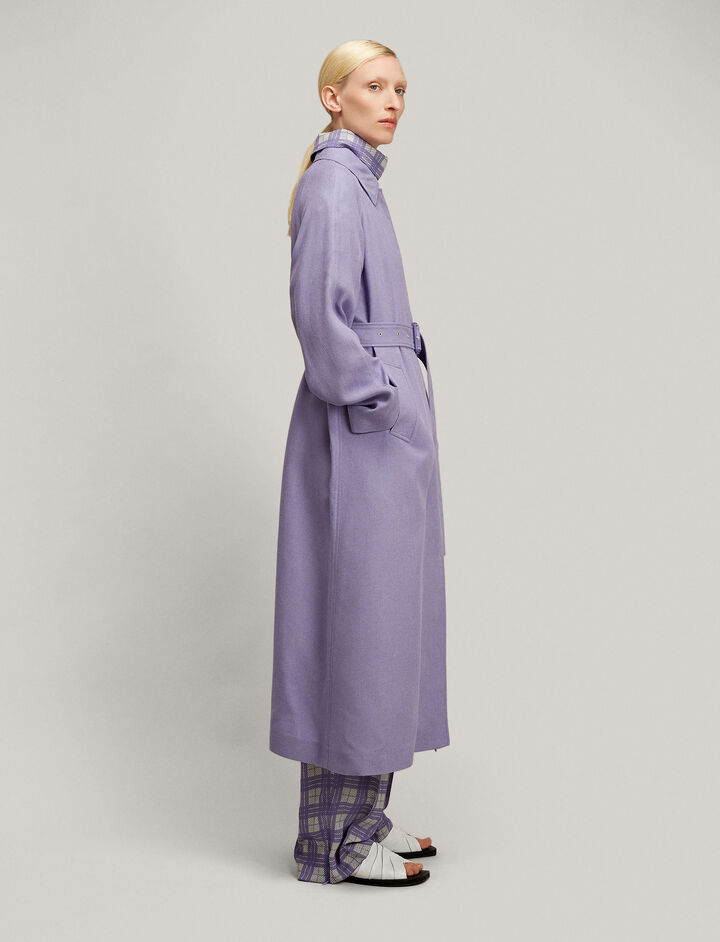 Joseph, Hopsack Chine Harris Coat, in IRIS