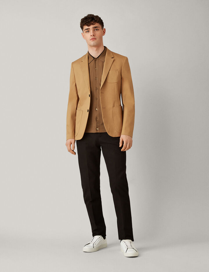 Joseph, Light Merinos Knit Shirt, in CAMEL