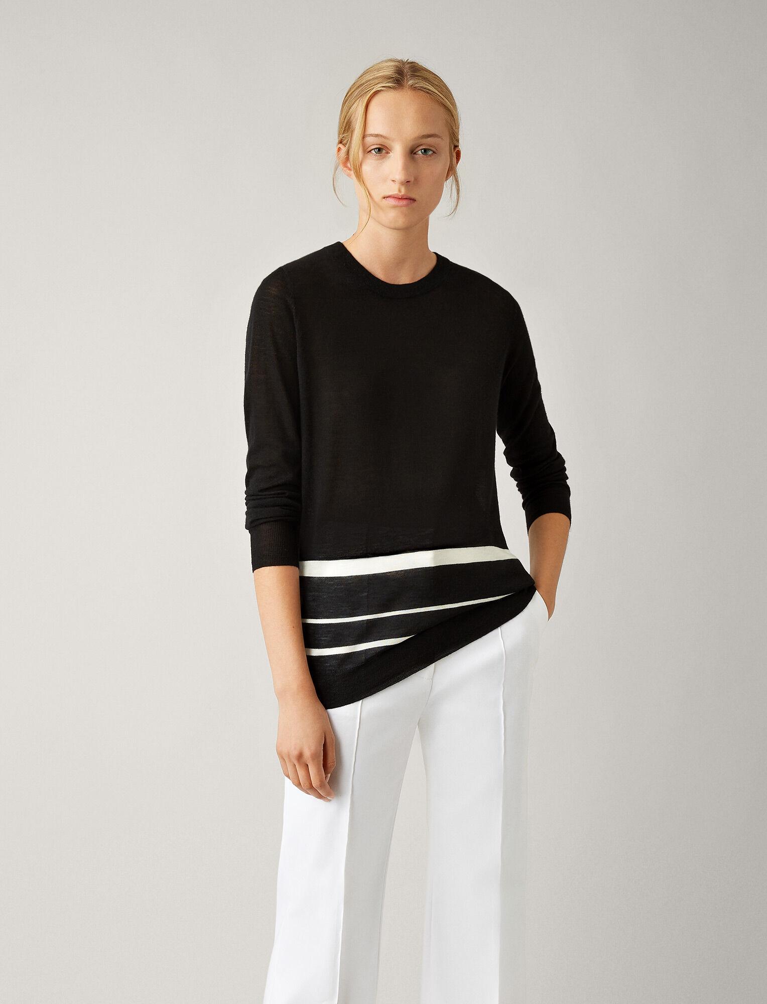 Joseph, Cashair Novelty Knit, in BLACK