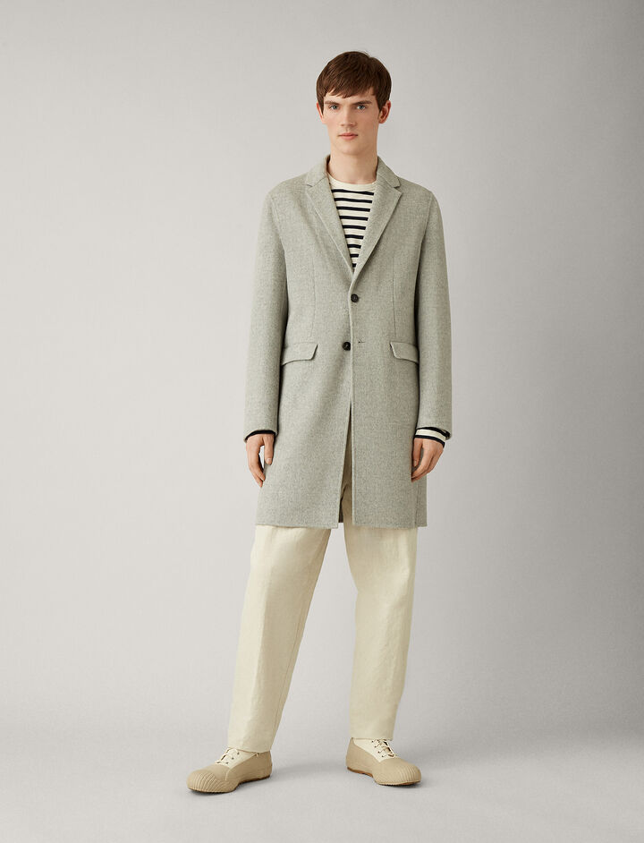 Joseph, Armand Feather Double Cashmere Coat, in GREY
