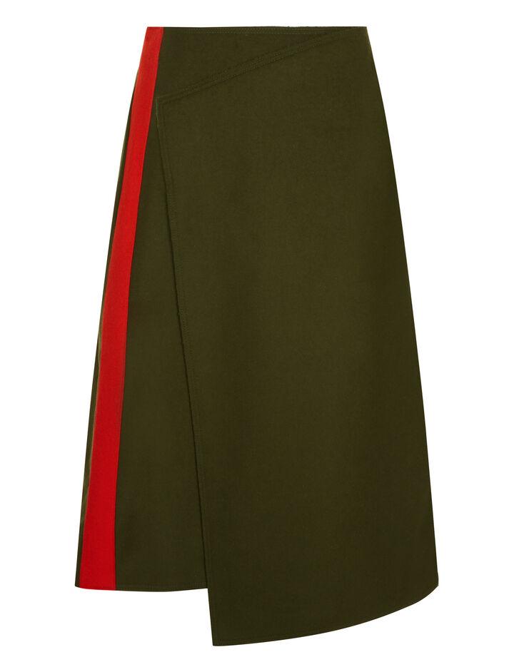 Joseph, Page Felt Skirt, in MILITARY