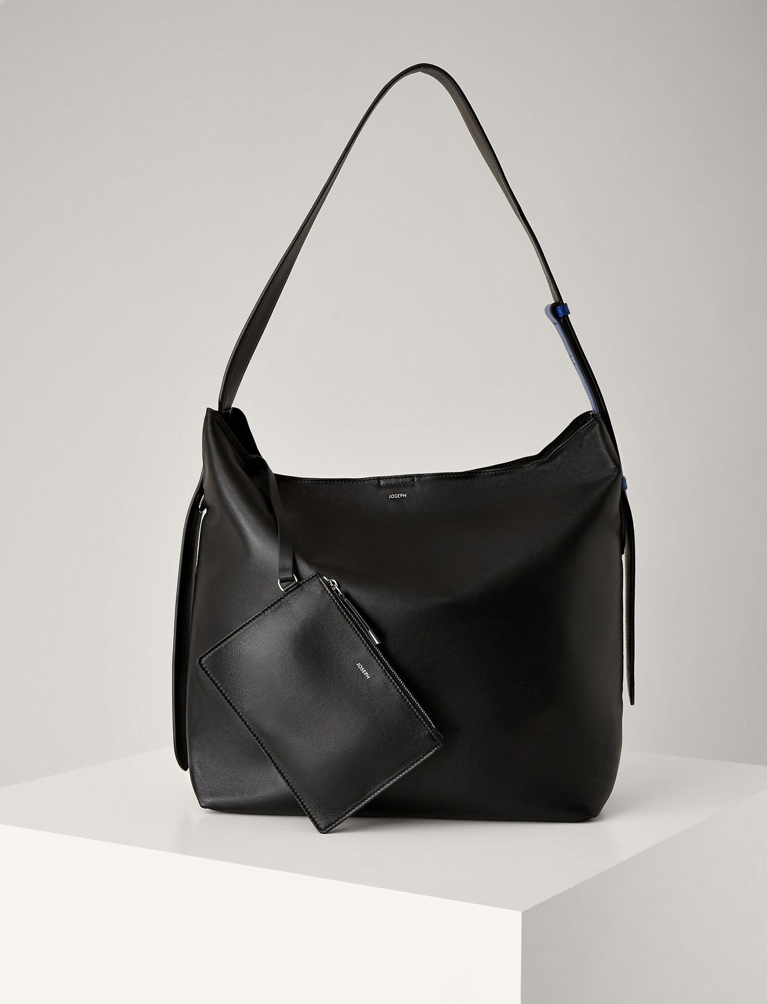 Joseph, Nappa Leather Pimlico Bag, in BLACK