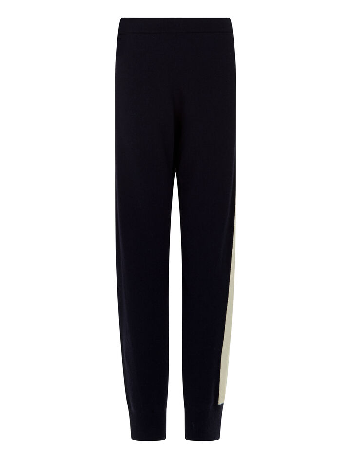 Joseph, Soft Wool Jog Pants, in NAVY