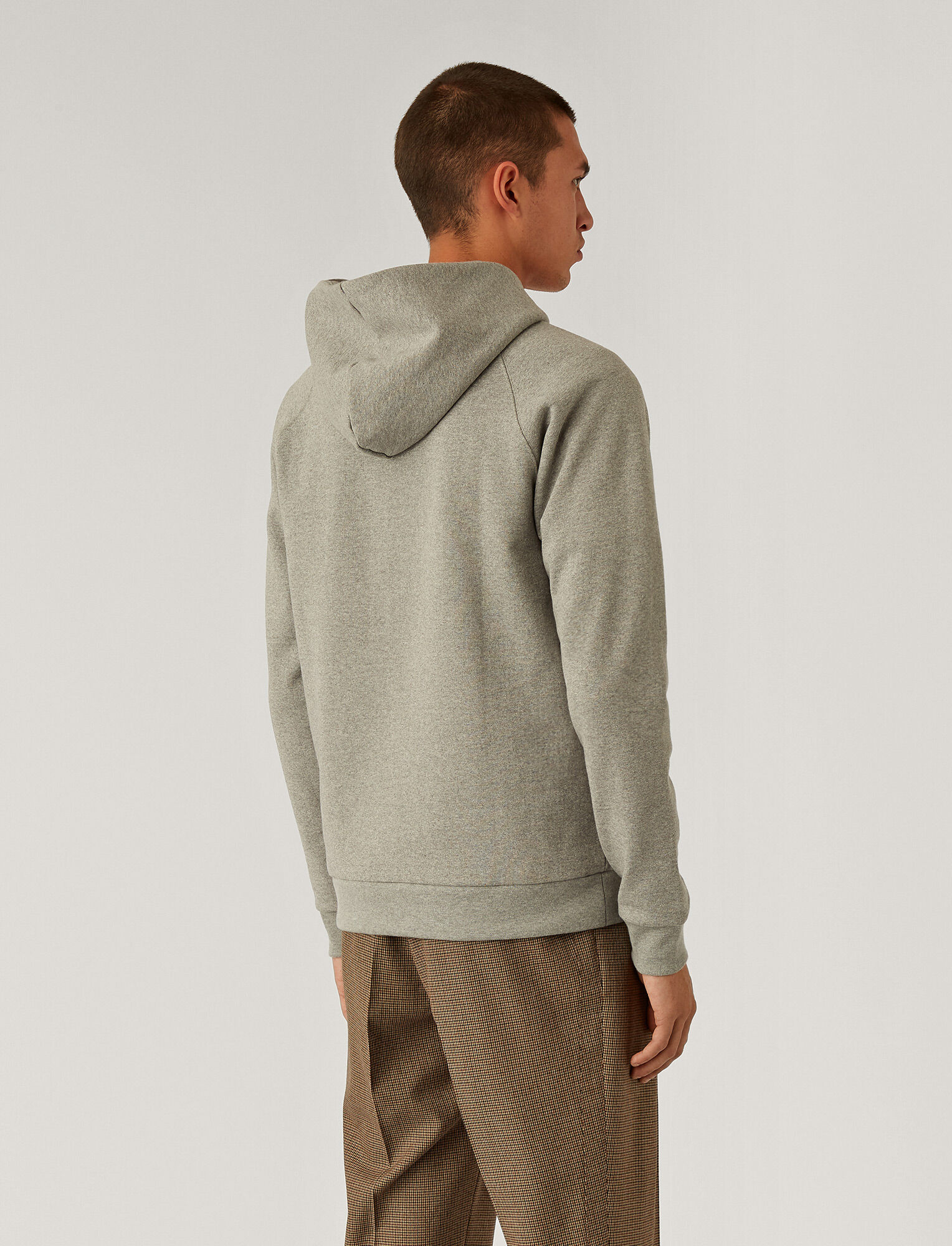 Joseph, Hoodie Cotton Cashmere Terry Jersey, in Light Grey